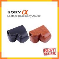 Bag Tas Leather Case Kamera Mirrorless Sony Alpha A6000 Promo