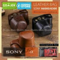 Sony Alpha A6000 / A6300 Leather Bag / Case / Tas Kamera Mirrorless