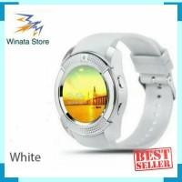 SMARTWATCH ONIX V8 DZ11 - JAM TANGAN PINTAR GSM - WHite