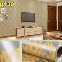 Harga wallpaper batik kuning background hijau muda 10m x | antitipu.com