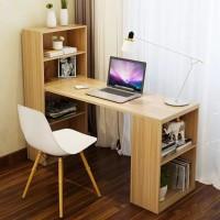 Meja Komputer Meja Belajar Meja Kerja Kantor Dengan Rak Buku