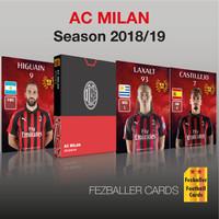 Fezballer Cards kartu bola edisi AC MILAN SerieA season 2018/2019