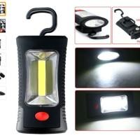 Senter LED COB + 3 LED Lampu Emergency + Magnet + Gantung