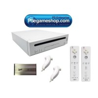 Jual Nintendo Wii White Console (2 Remote + Hdd 120 Gb 110 game) Murah