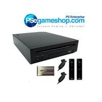 Jual Nintendo Wii Black Console (2 Remote + Hdd 120 Gb 110 game) Murah