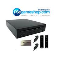 Jual Nintendo Wii Black Console (Remote 2 + Hdd 60 Gb (90 game) Murah