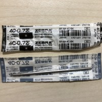 Refill Mini Pen Zebra Techo T3-400 Black Ink 0.7mm