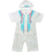 Baju Koko Bayi Putih Baju Muslim Newborn Bayi Baru Lahir Aqiqah