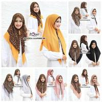 Hijab jilbab pashmina bergo kerudung scarf Khimar instan leopard
