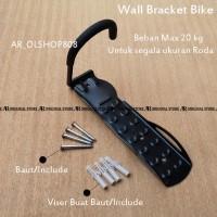 Hook Sepeda Untuk Roda Ditembok Dinding Gantungan Sepeda Wall Bracket