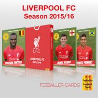 Kartu Bola Fezballer Cards edisi LIVERPOOL season 2015-2016