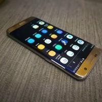 Samsung S7 edge dous minus LCD retak pinggir dan garis