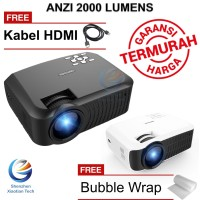 Mini Projector New Gen Proyektor T22 Ansi 2000 Lumens Support 1080p