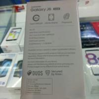 Hp Samsung Galaxy J6 - Ram 3Gb Internal 32Gb Garansi Resmi - Hitam