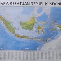 Peta Negara Kesatuan Republik Indonesia (NKRI) Lipat