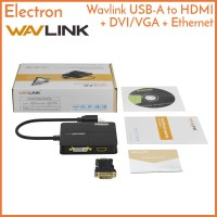 Wavlink USB-A 3.0 to HDMI DVI/VGA Gigabit Ethernet Adapter Converter