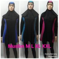 Baju Renang Wanita Dewasa Muslim Panjang Polos Termasuk Inner Dalaman