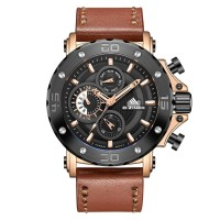 Jam Tangan Pria DZINER Ac Collection 9031 Strap Leather