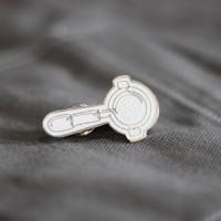 Three Folks - Enamel Pin White Porta Filter