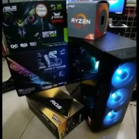 PC PAKET RAKITAN CPU GAMING AND DESIGN AMD RYZEN 5 1600 GTX 1060 GB