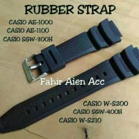 Rubber Strap Tali Jam Tangan CASIO AE-1000/AE1000/AE 1000 Free PEN