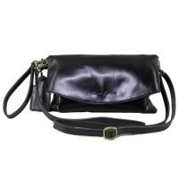 Sling and Clutch Pu Julia Black - Kenes Leather