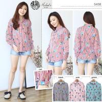 5485 - Puff Sleeve Shirt Flower