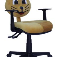 Ergosit Kursi Belajar Cartoon Chair Kitty - Coklat