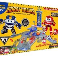 ROBOT TRAIN PARKING LOT ZY646 - MAINAN ANAK ROBOT TRAIN KAY ALF