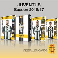 kartu bola Fezballer Cards edisi tim JUVENTUS season 2016-2017
