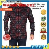 Harga baju batik songket baju kemeja pria lengan panjang bahan adem | Hargalu.com