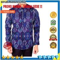 Harga baju batik lengan panjang pria pakaian kemeja pria hem pria | Hargalu.com