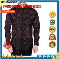Harga baju batik pria lengan panjang pakaian kemeja pria kemeja batik | Hargalu.com