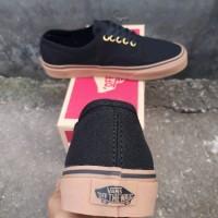 BURUAN DI SERBU GAES Sepatu Vans Authentic Black Gum Original Premium