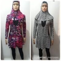 Baju Renang Wanita Muslimah Syari Bermotif