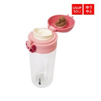 Usupso Dual-Layer Glass Bottle With Flip Cap 250 ML / Botol Minum
