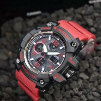 JAM TANGAN G-SHOCK GG510 DOUBLE TIME RED BLACK SUPER