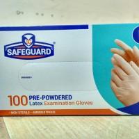 Sarung Tangan Safeguard Gloves Latex Powdered isi 100pcs