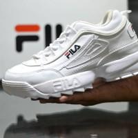 Sepatu Fila Disruptor Putih Sneakers Casual Sport Wanita