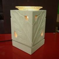 Lampu Harum Aromaterapi Lampu Meja Lampu Hias Full Batu Daun Kotak