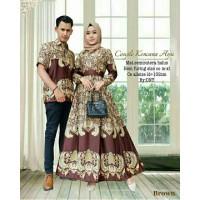 Setelan Batik Couple Batik Modern Semisutera Kencana Ayu Syari Batik