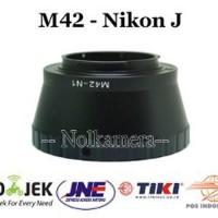 Adapter Lensa M42 To Nikon 1 J1 J2 J3 J5 V1 V2 S1 Berkualitas