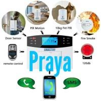 Harga ori security alarm rumah kantor ruko gsm system wireless sensor | Pembandingharga.com