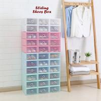 Sliding Shoes Box (Kotak sepatu model sliding,bisa sambung menyambung)