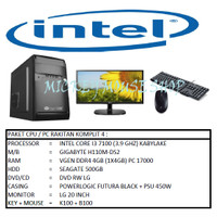 PAKET CPU / PC RAKITAN KOMPLIT 4 / INTEL I3 7100 (3.9 GHZ) / RAM 4GB