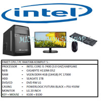 PAKET CPU / PC RAKITAN KOMPLIT 5 / INTEL I5 7400 (3.0 GHZ) / RAM 4GB