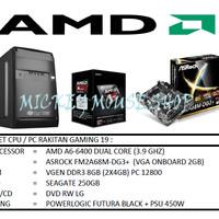 PAKET CPU / PC RAKITAN GAMING 19 /AMD A6-6400(3.7 GHZ)/ RAM 8GB