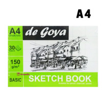 De Goya Sketchbook A4 (21CM X 29.7CM) - Sketch Book Basic DeGoya