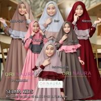 selma kids busana muslimah set jilbab anak motif polos orinaura