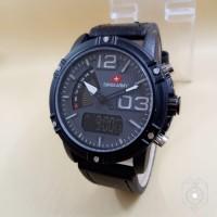 Jam Tangan Pria sporty Swiss Army Double Time Kulit